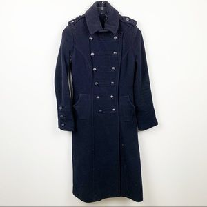 Moda International | Long Wool Military Coat
